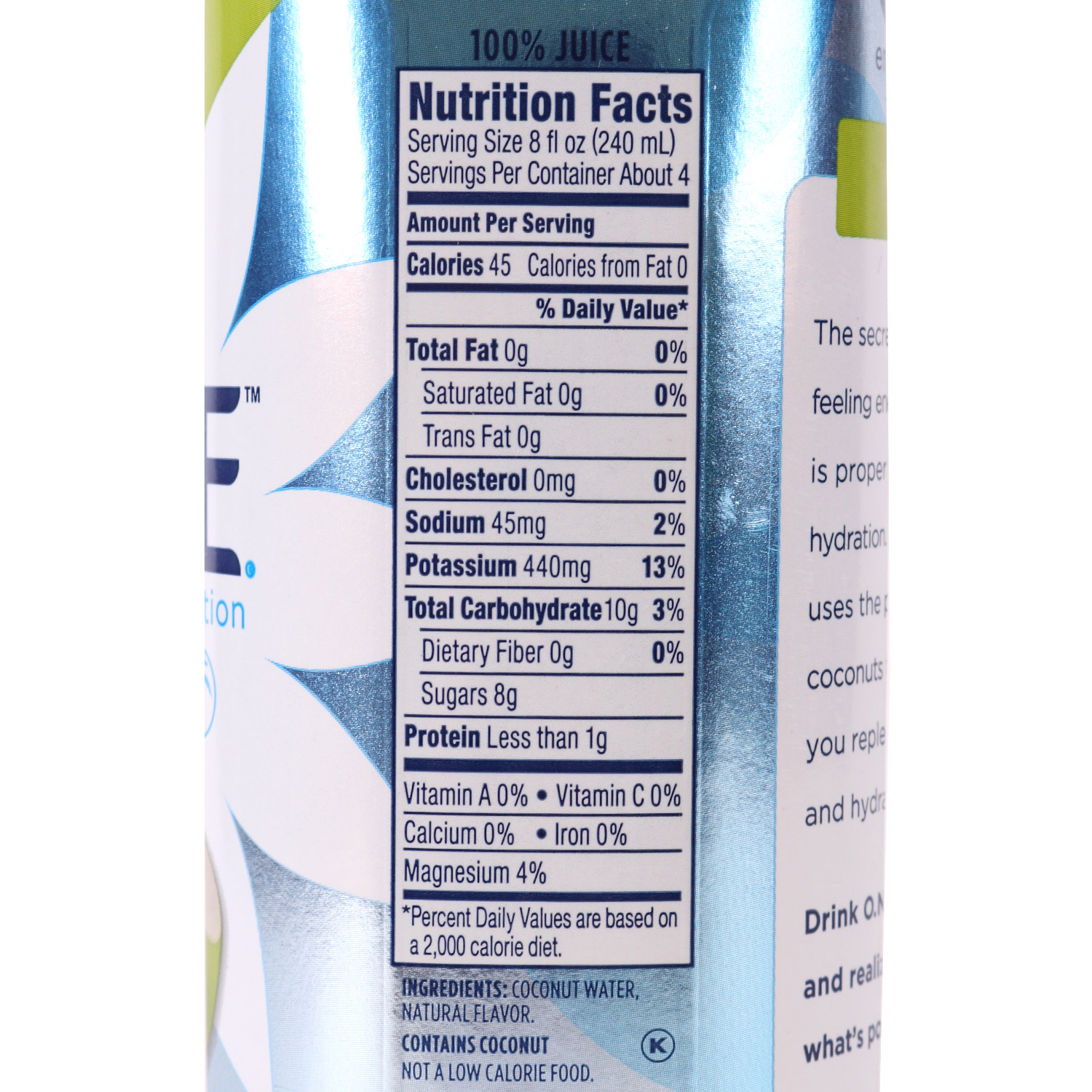 Coconut Water, Natural