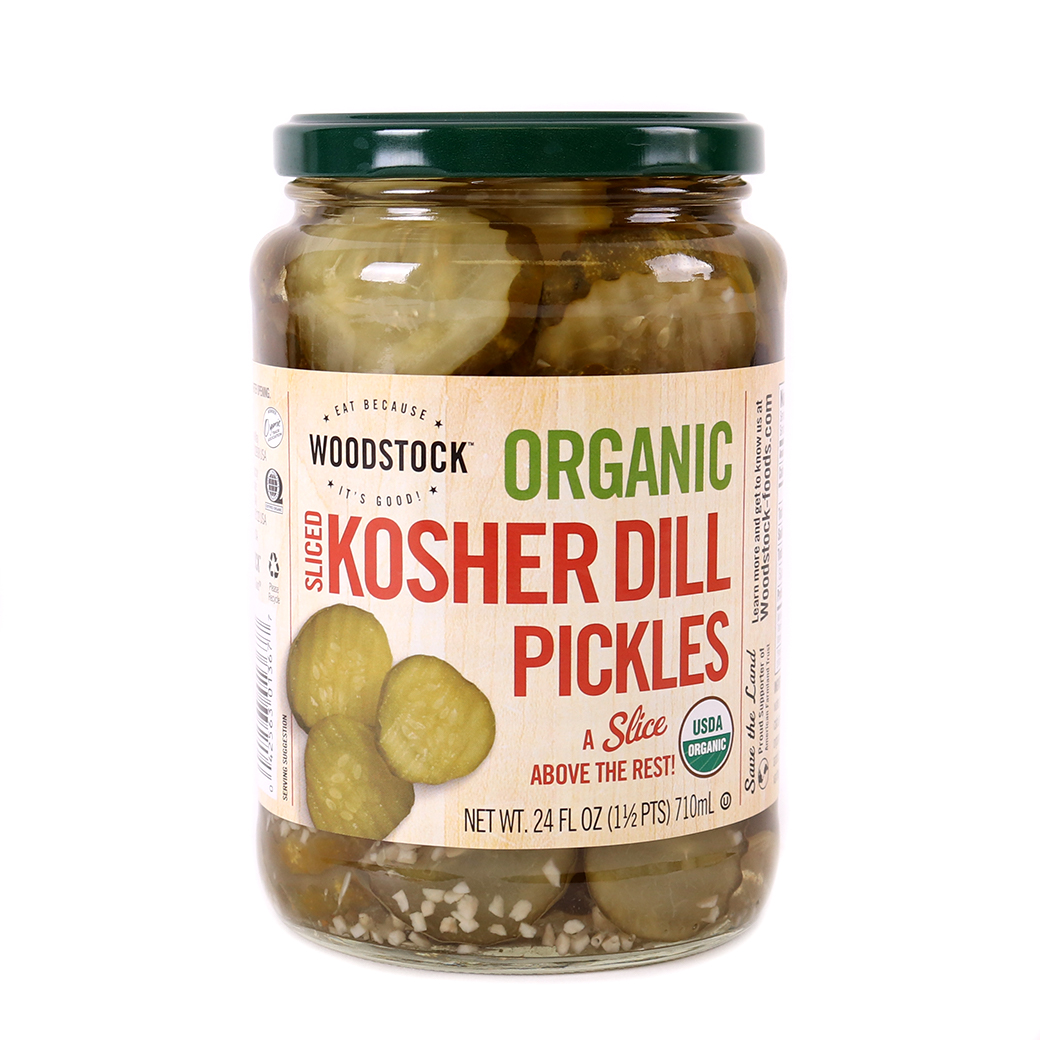 Pickles, Kosher Dill Slices-Organic