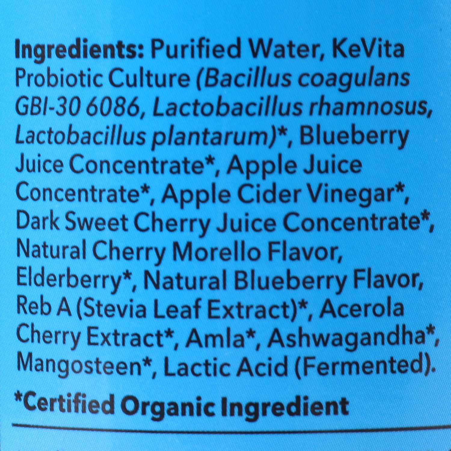 Sparkling Probiotic Drink, Blueberry Cherry-Organic