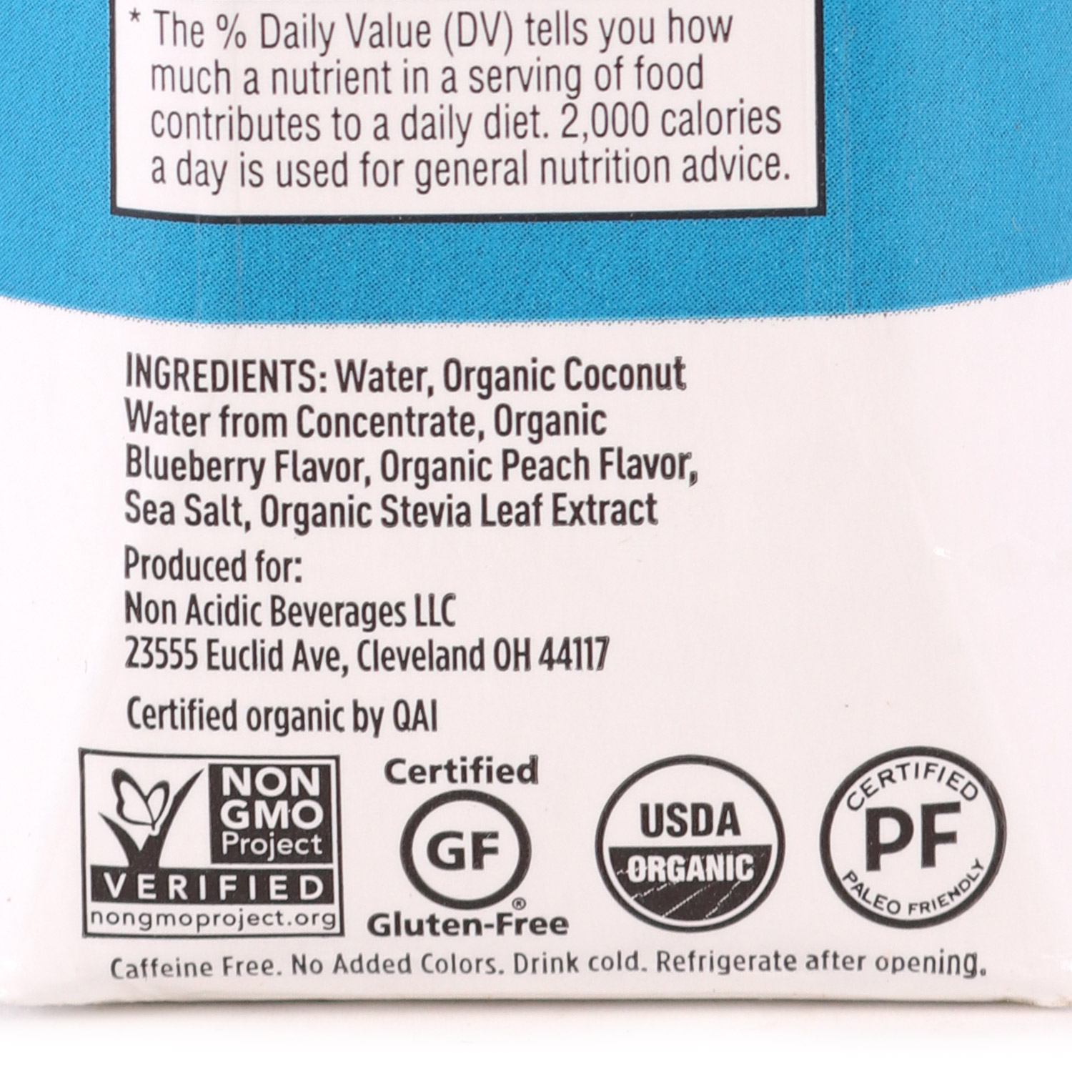 Electrolyte Drink, Blueberry Peach-Organic