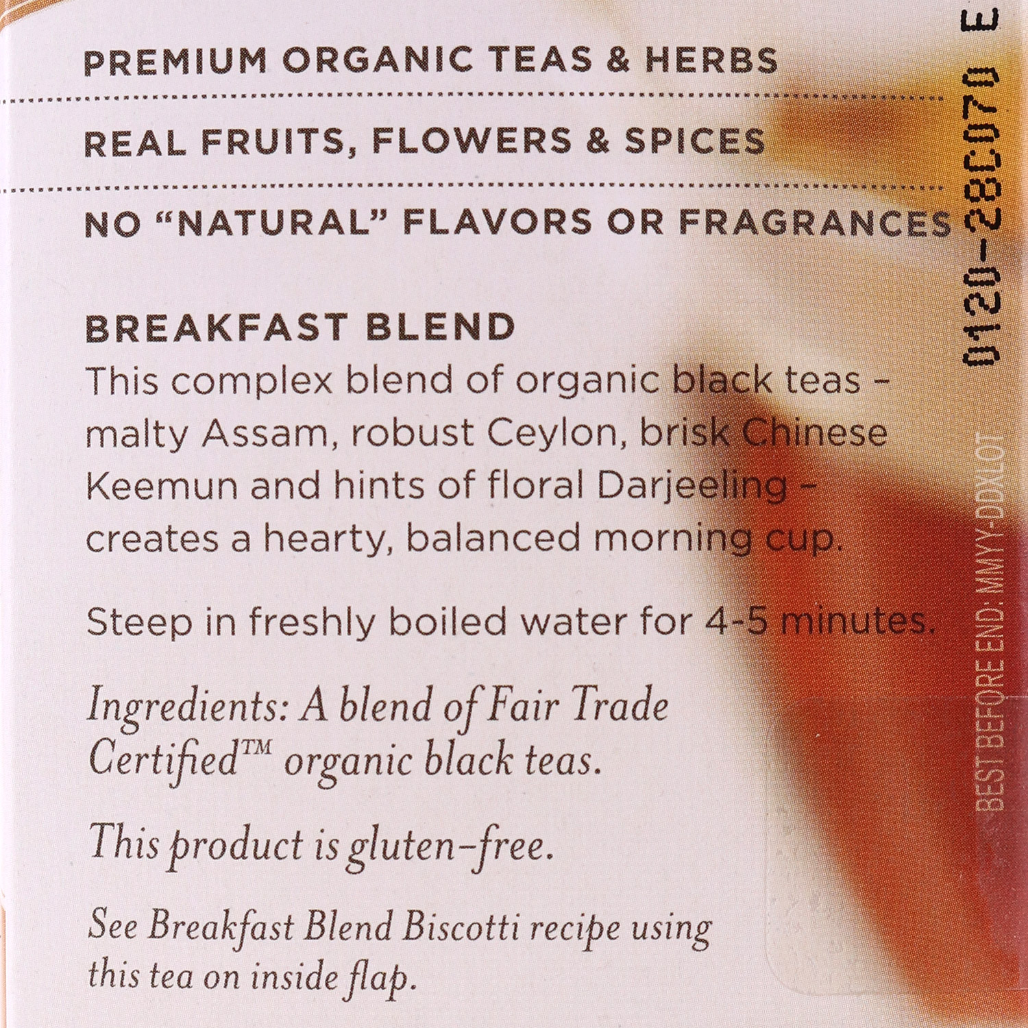 Tea, Breakfast Blend Black Tea-Organic