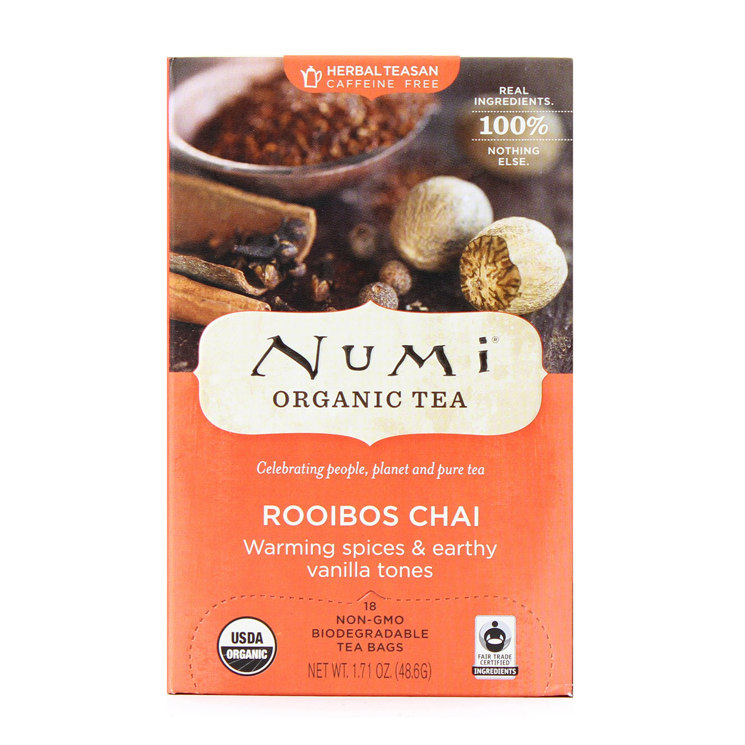 Tea, Rooibos Chai Green Tea-Organic