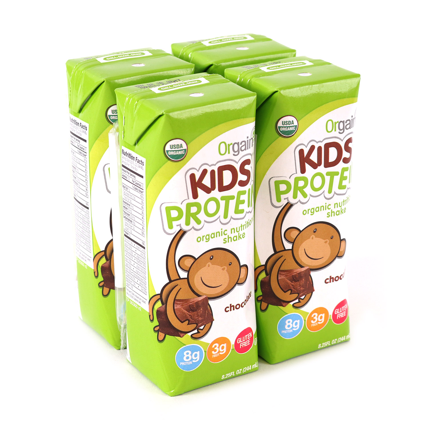 Kids Shake, Chocolate 4 Pk-Organic