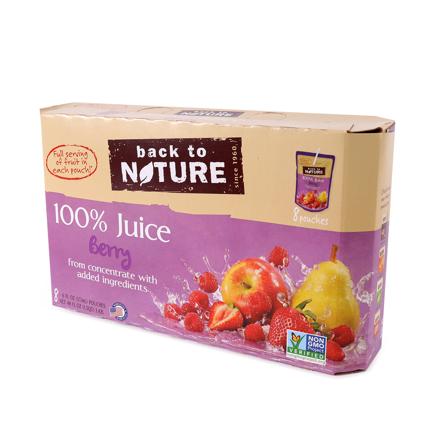 Juice Pouches, Berry