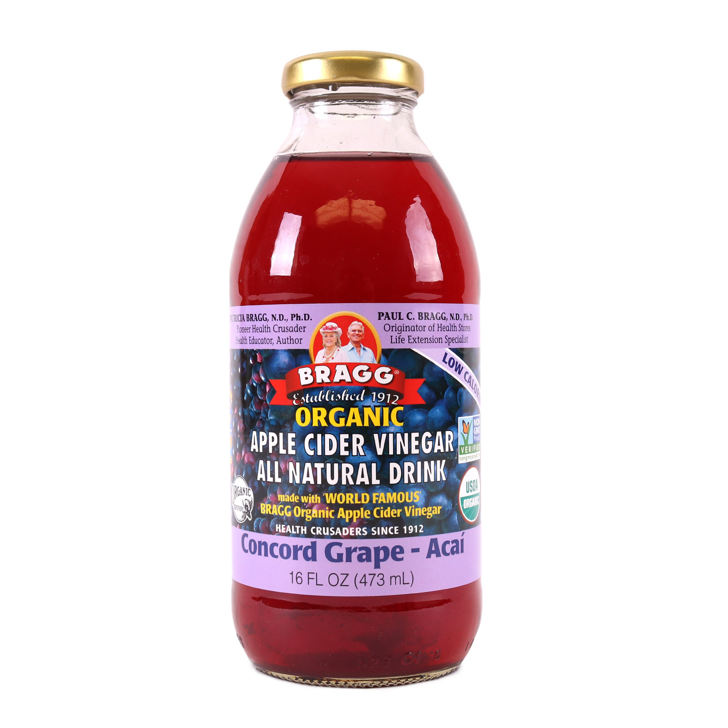 Apple Cider Vinegar Drink, Concord Grape Acai-Organic