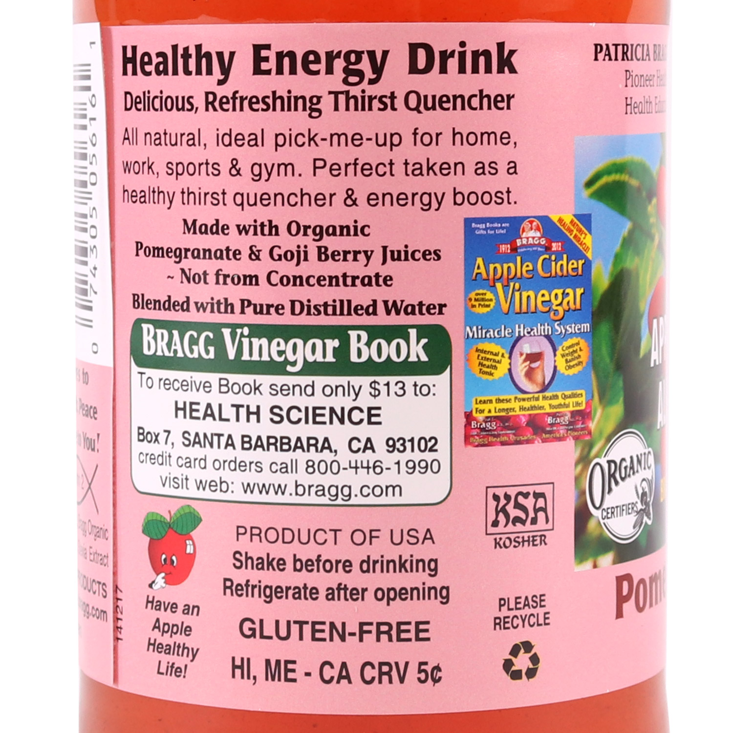 Apple Cider Vinegar Drink, Pomegranate Goji Berry-Organic