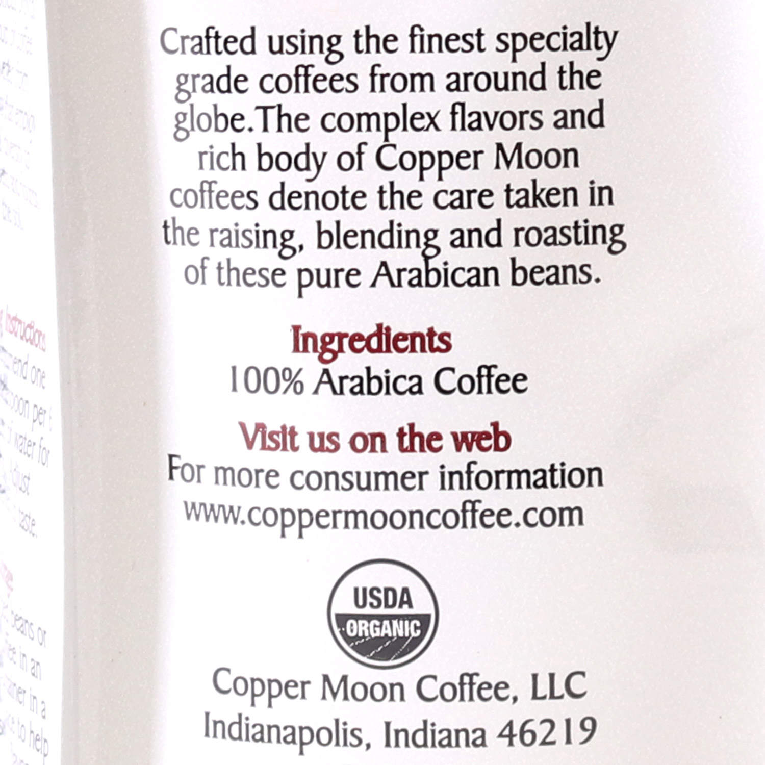 Ground Coffee, Aztec Moon-Organic