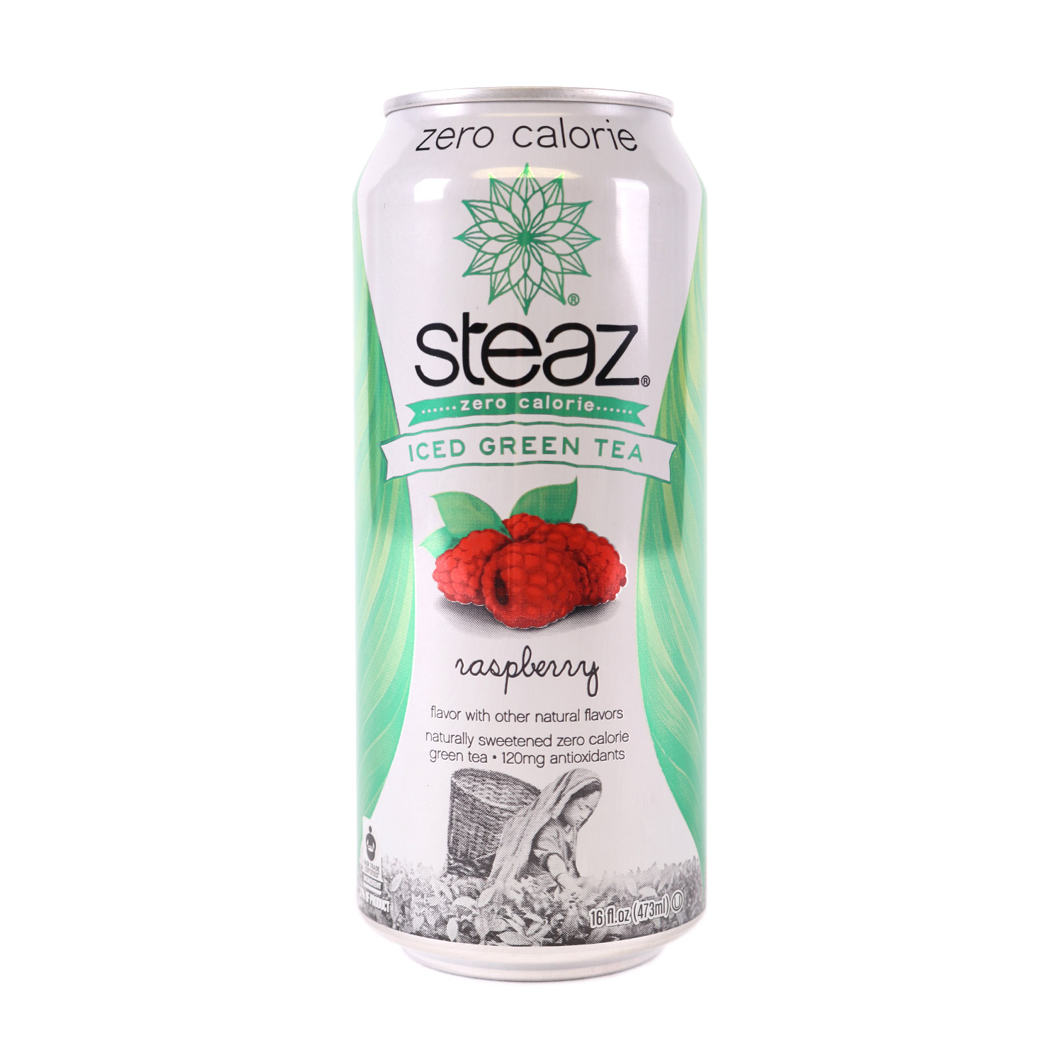 Zero Calorie Green Tea, Raspberry-Organic