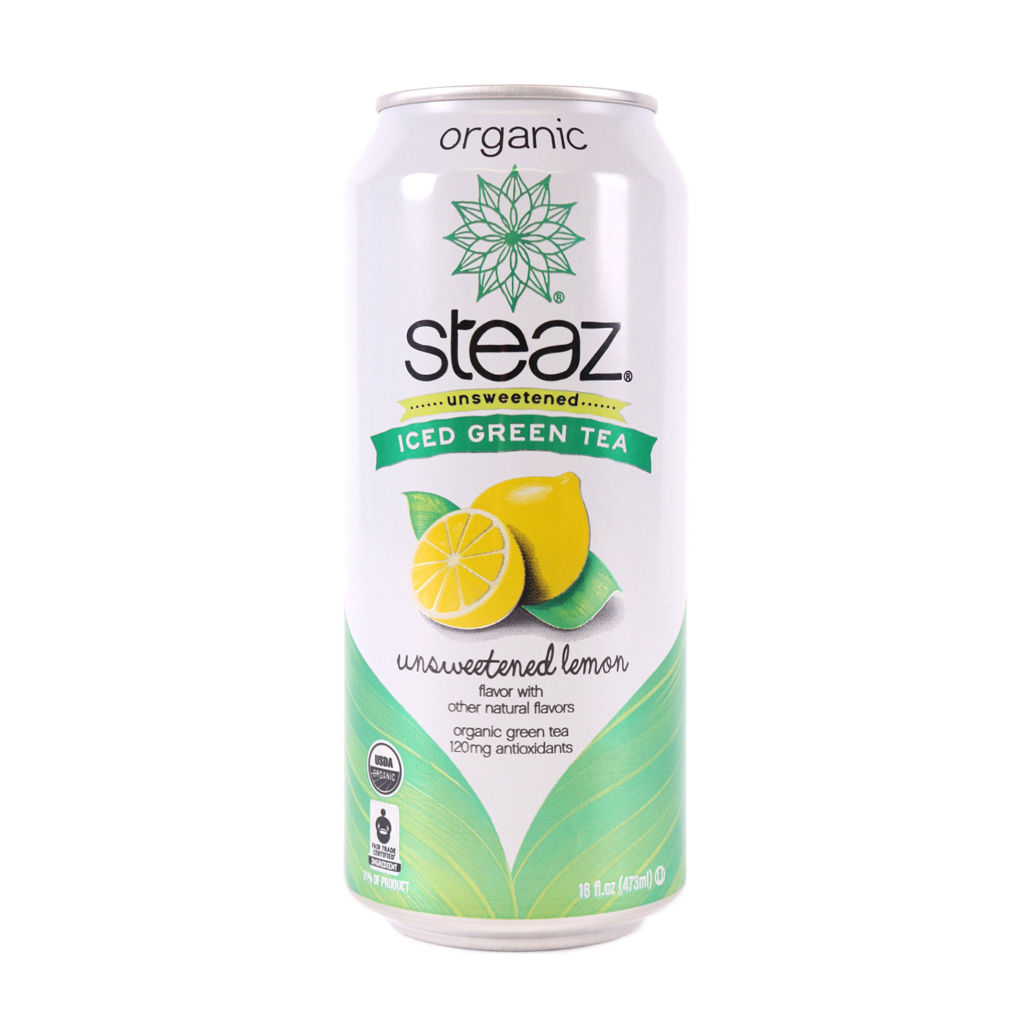 Green Tea, Unsweetened Lemon-Organic