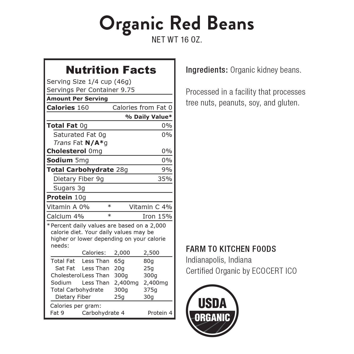 Beans, Red Kidney-Organic