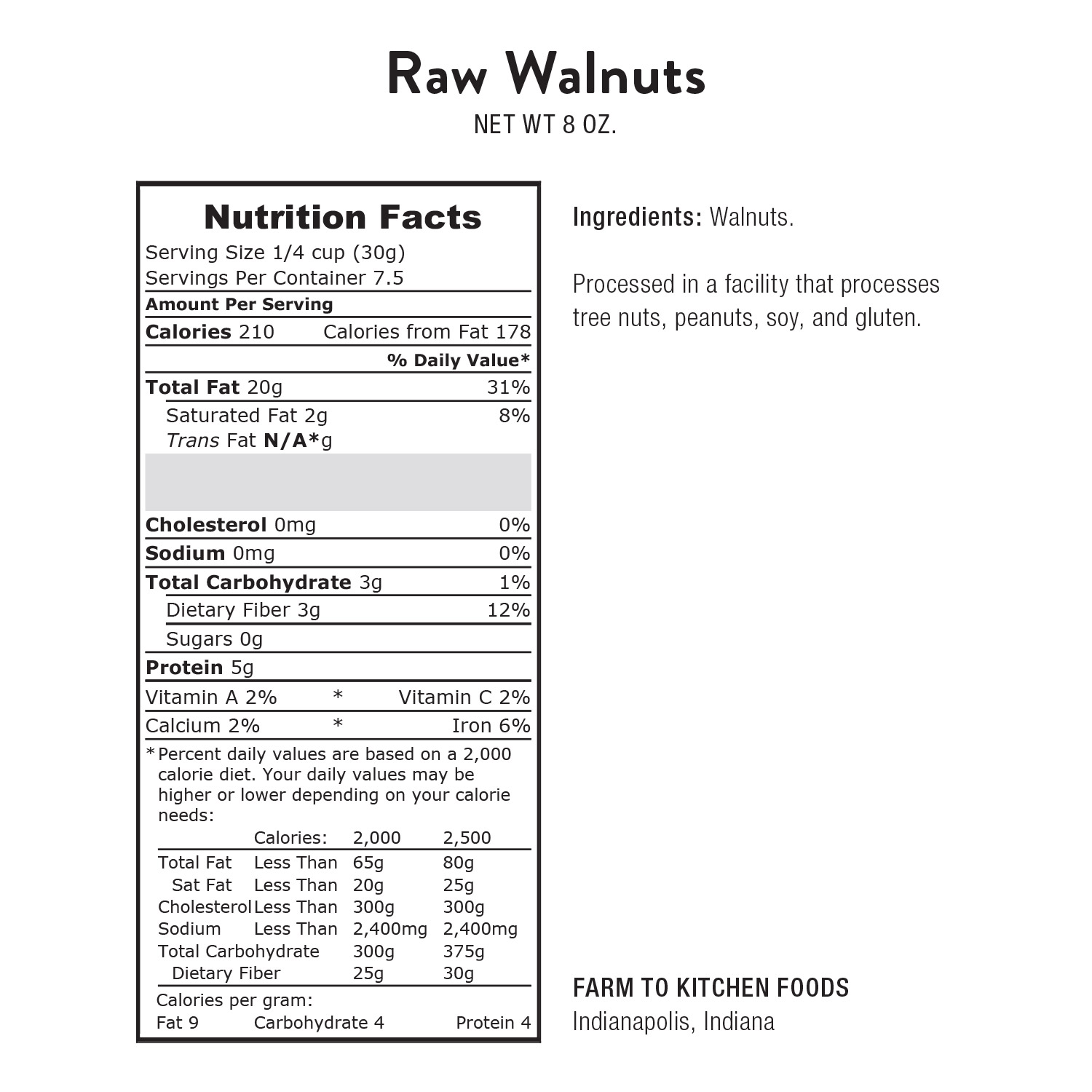 Walnuts, Raw