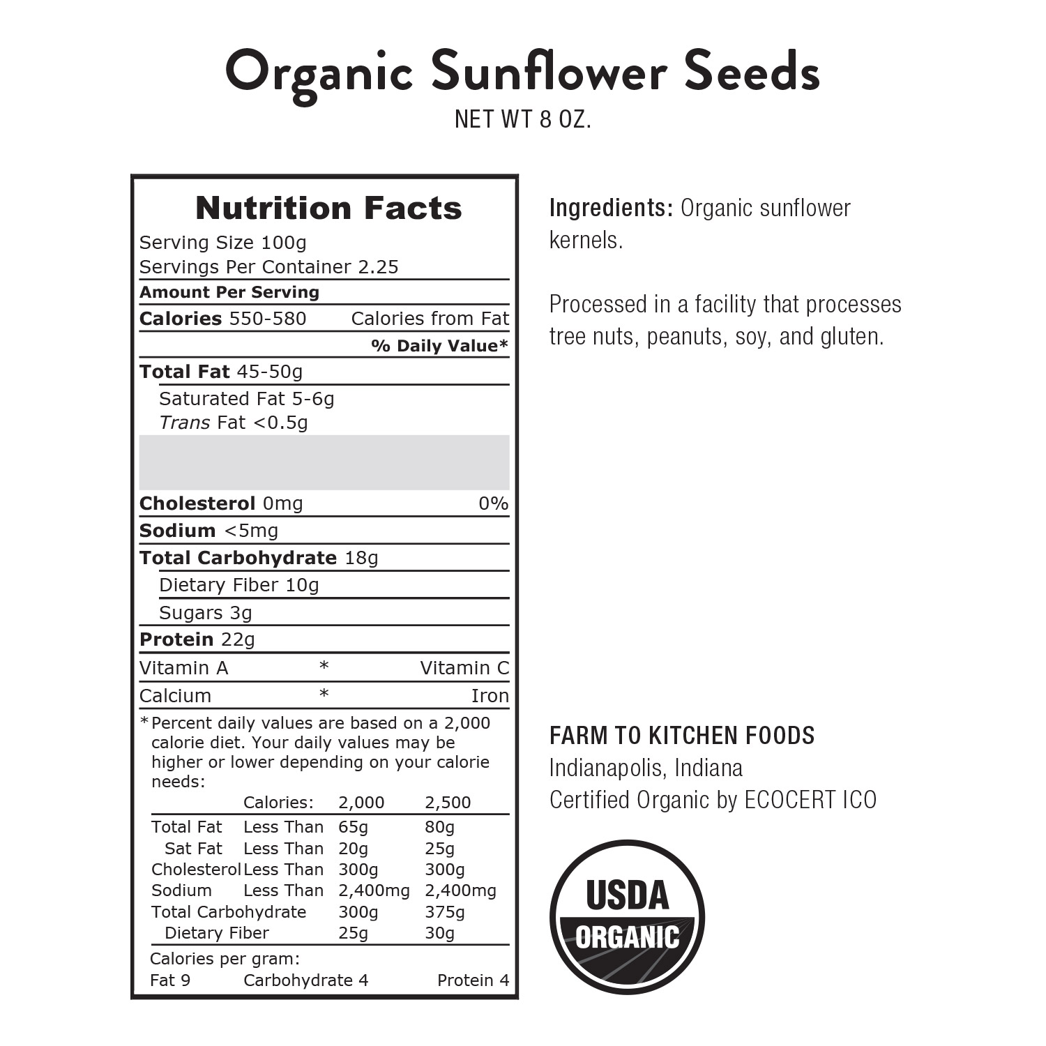 Sunflower Seeds-Organic