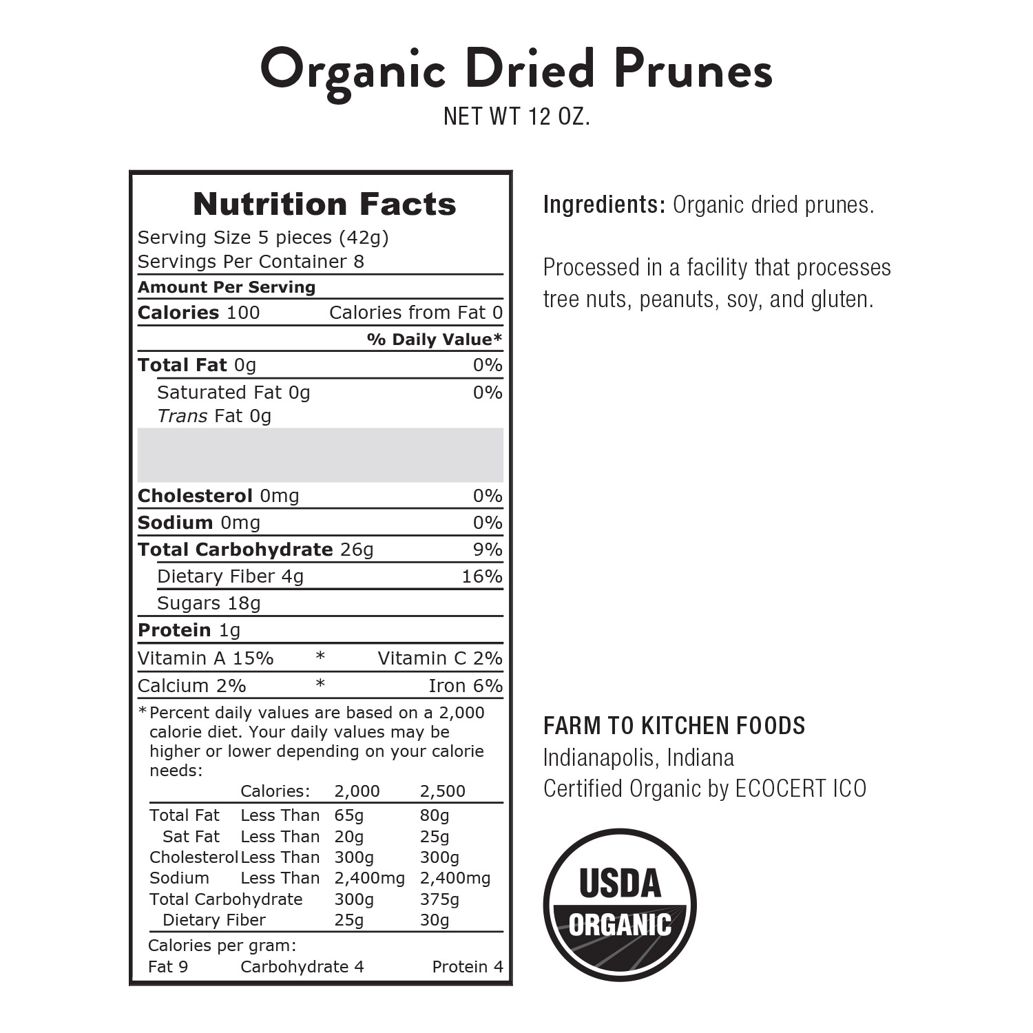 Prunes, Dried-Organic