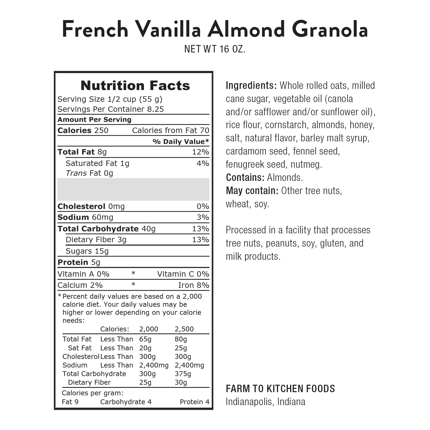 Granola, French Vanilla Almond