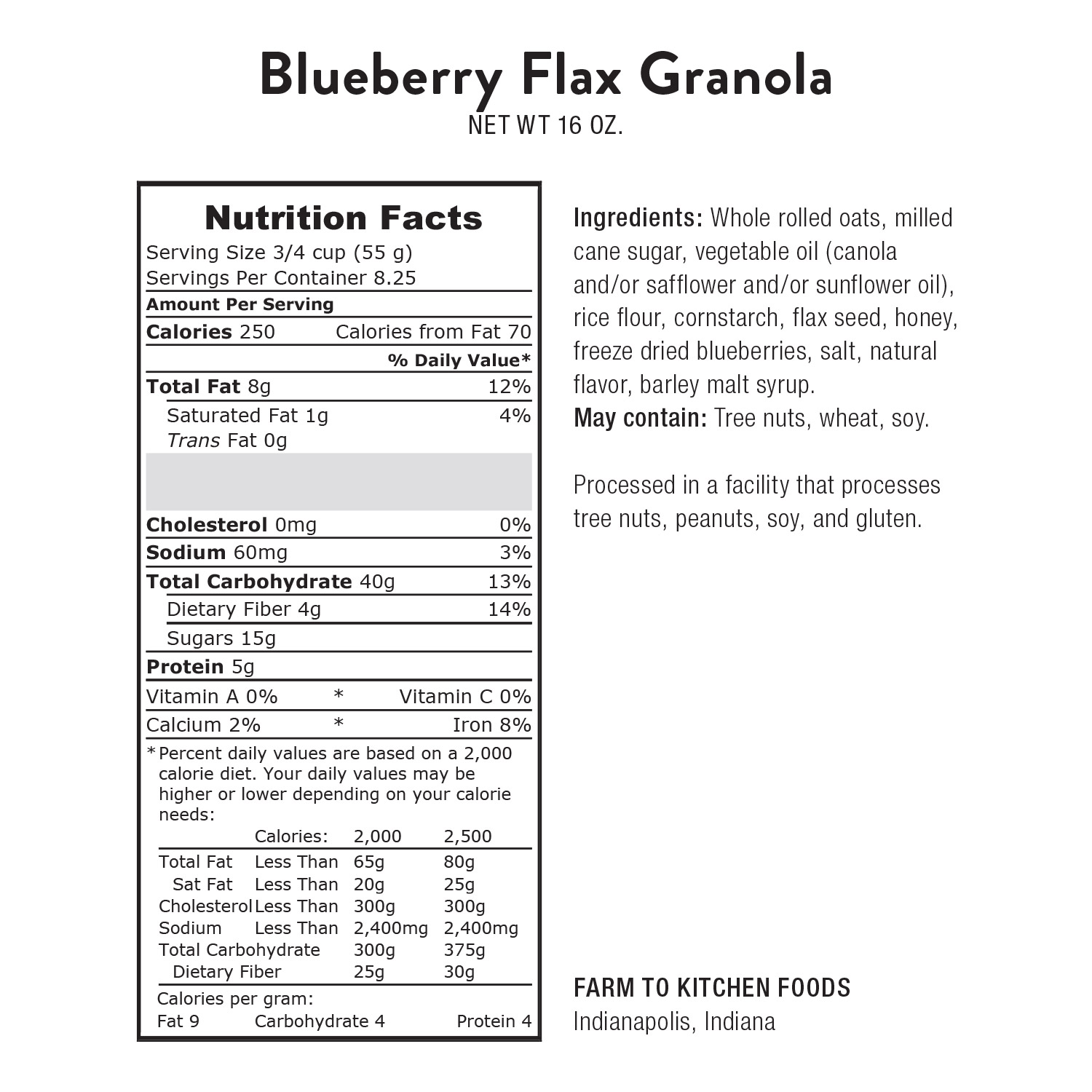 Granola, Blueberry Flax
