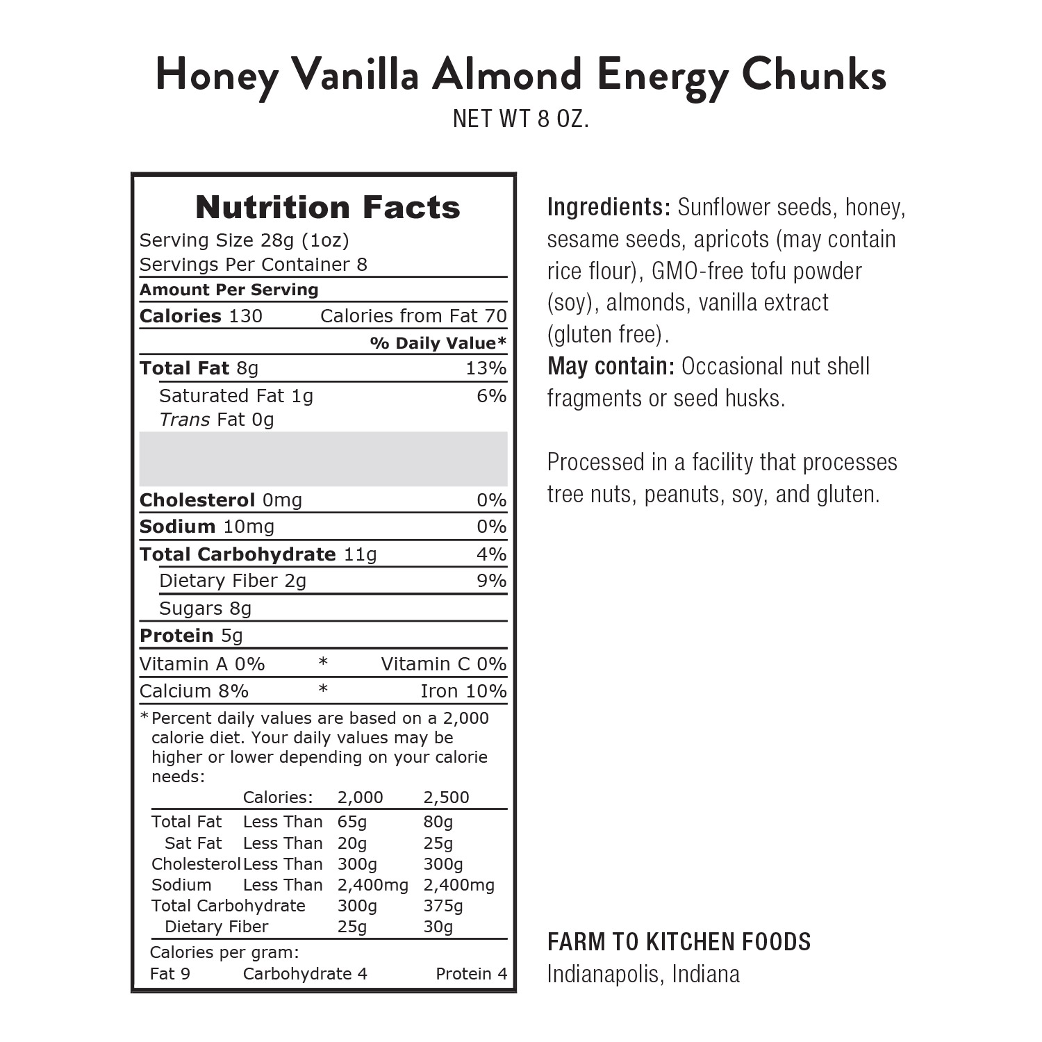 Energy Chunks, Honey Vanilla Almond