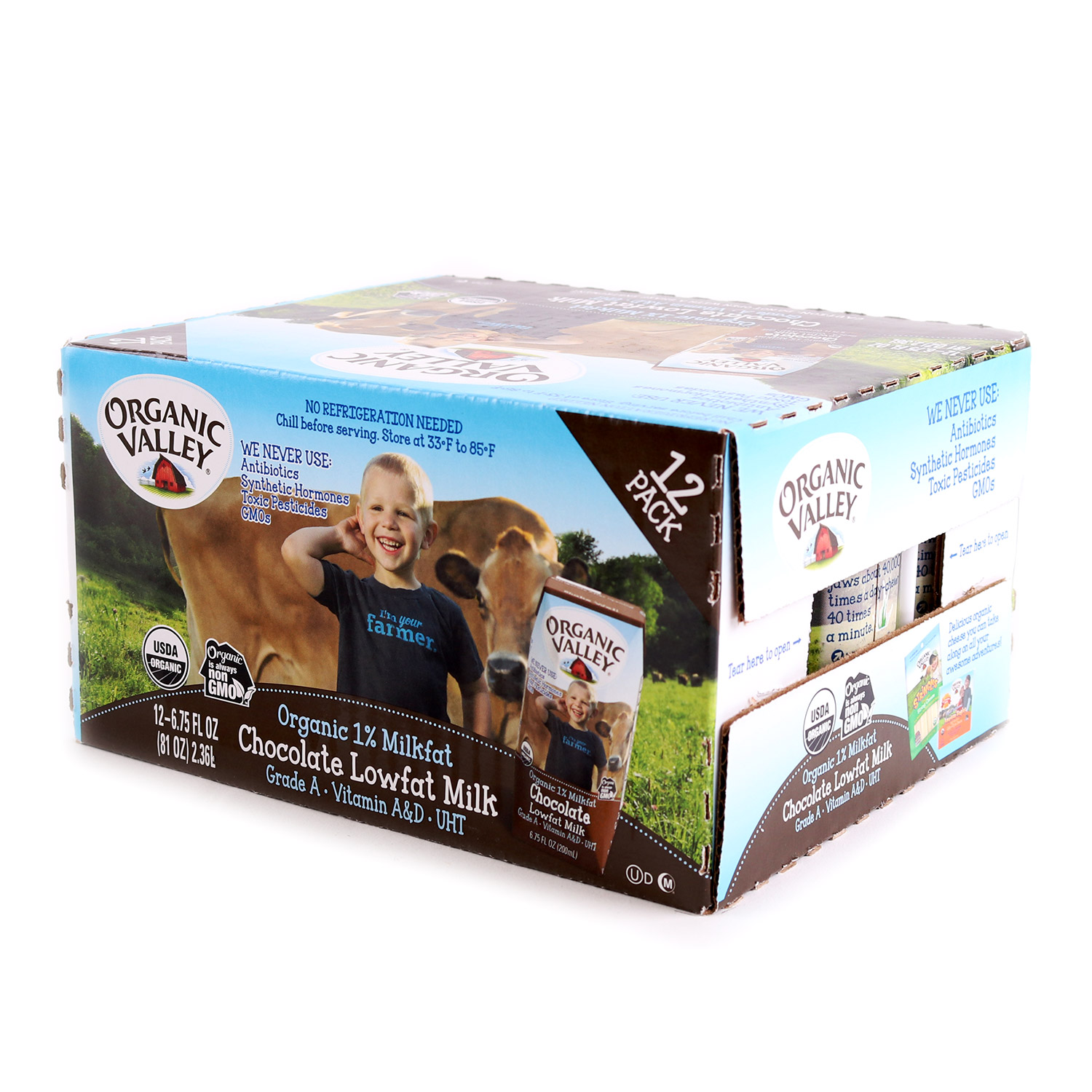 Milk, Kid's Chocolate-Organic (Case)