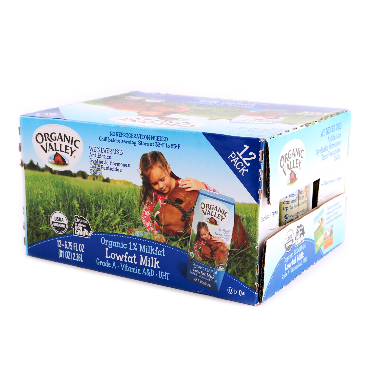 Milk, Kid's 1%-Organic (Case)