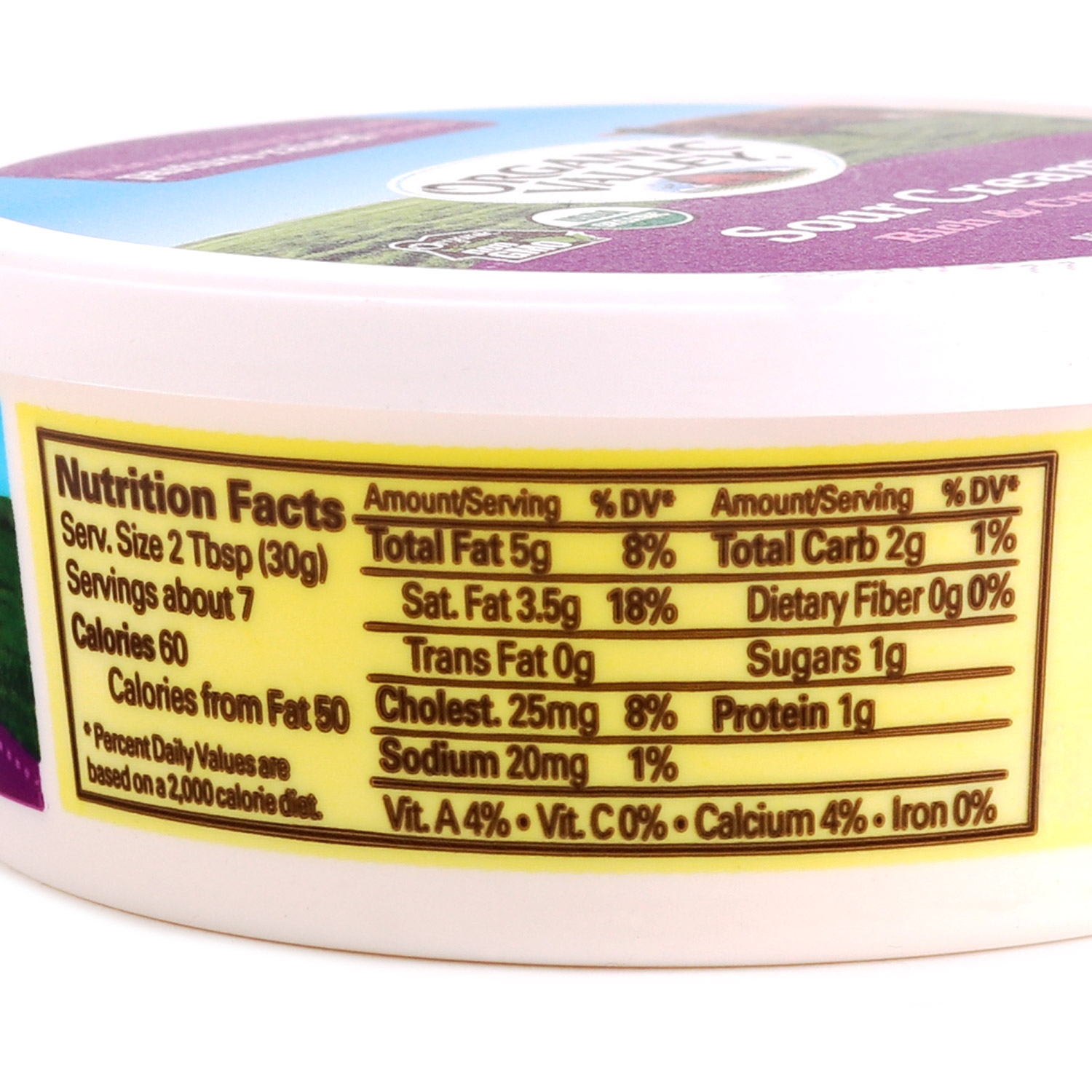 Tub, Sour Cream, 4% 8 oz-Organic