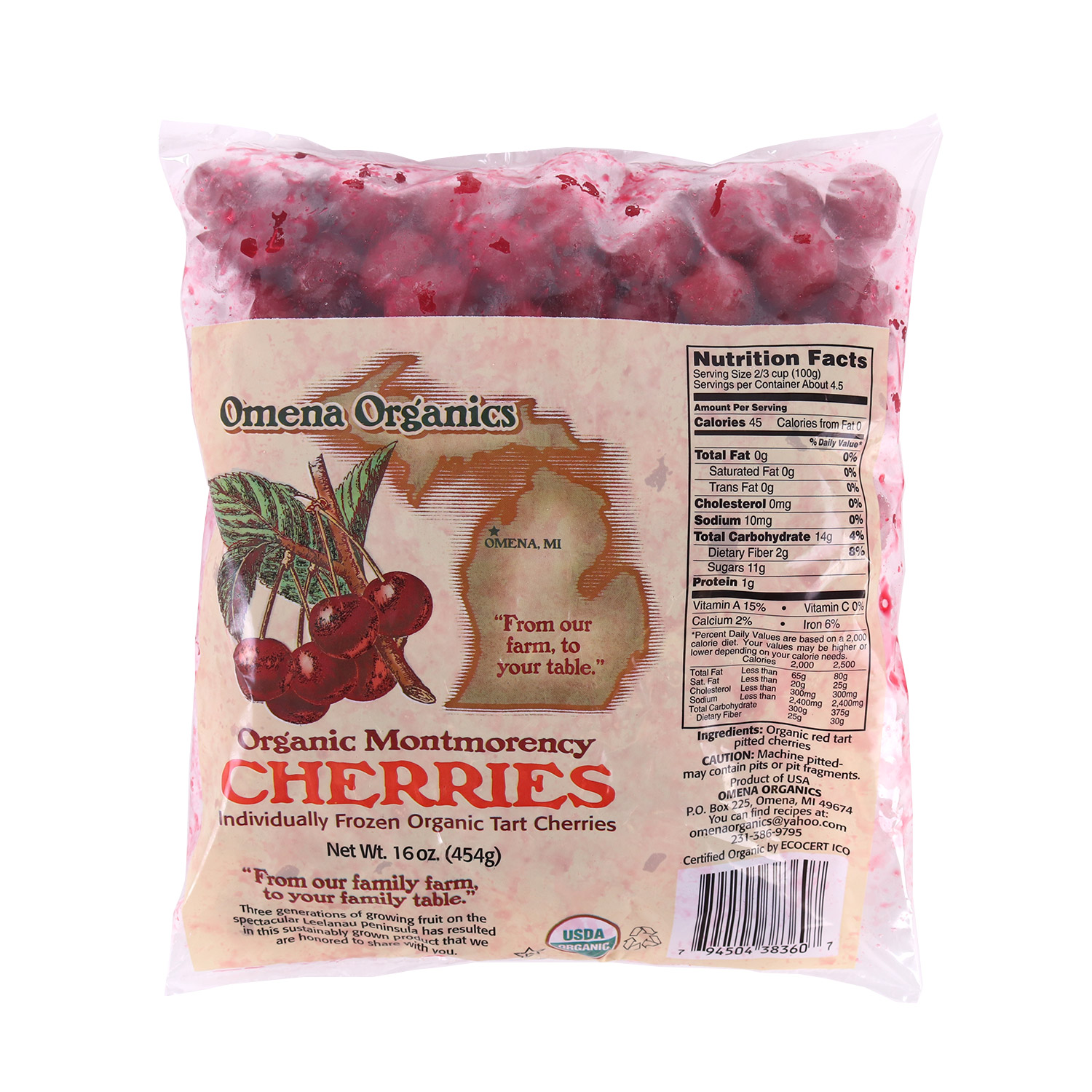 Pitted Cherries-Organic