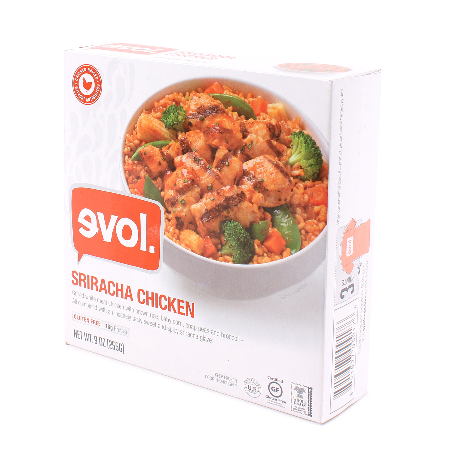 Single Serve Meal, Sriracha Chicken