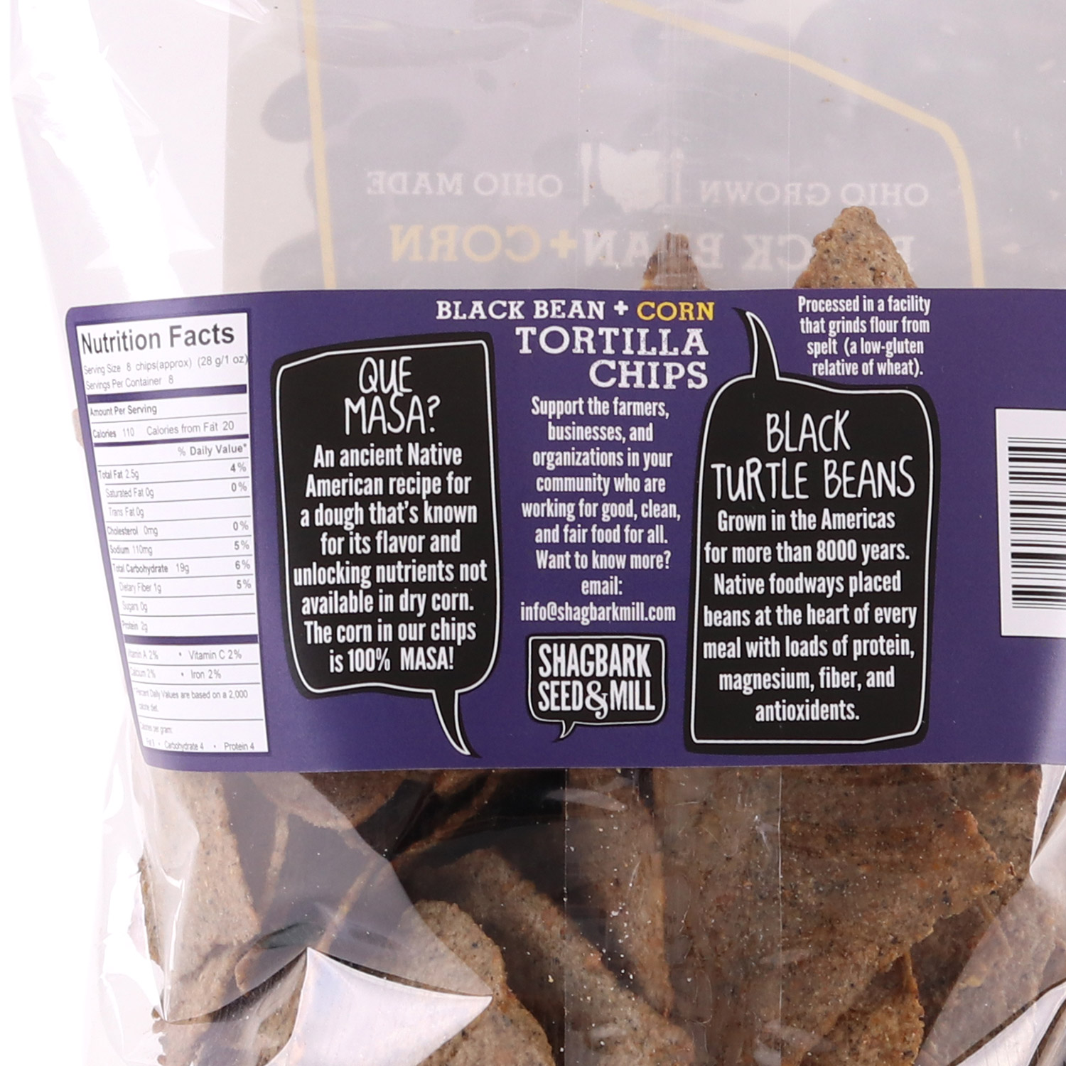 Corn Chips, Black Bean