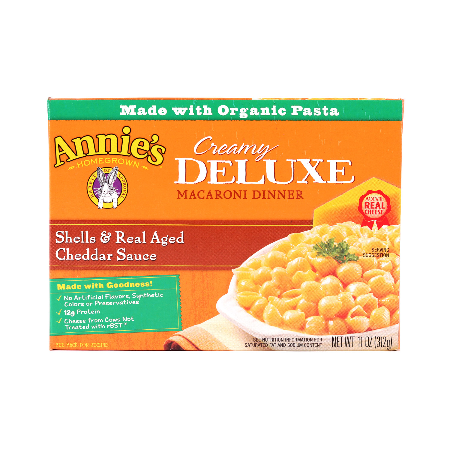 Pasta, Deluxe Shells&Cheddar-Organic