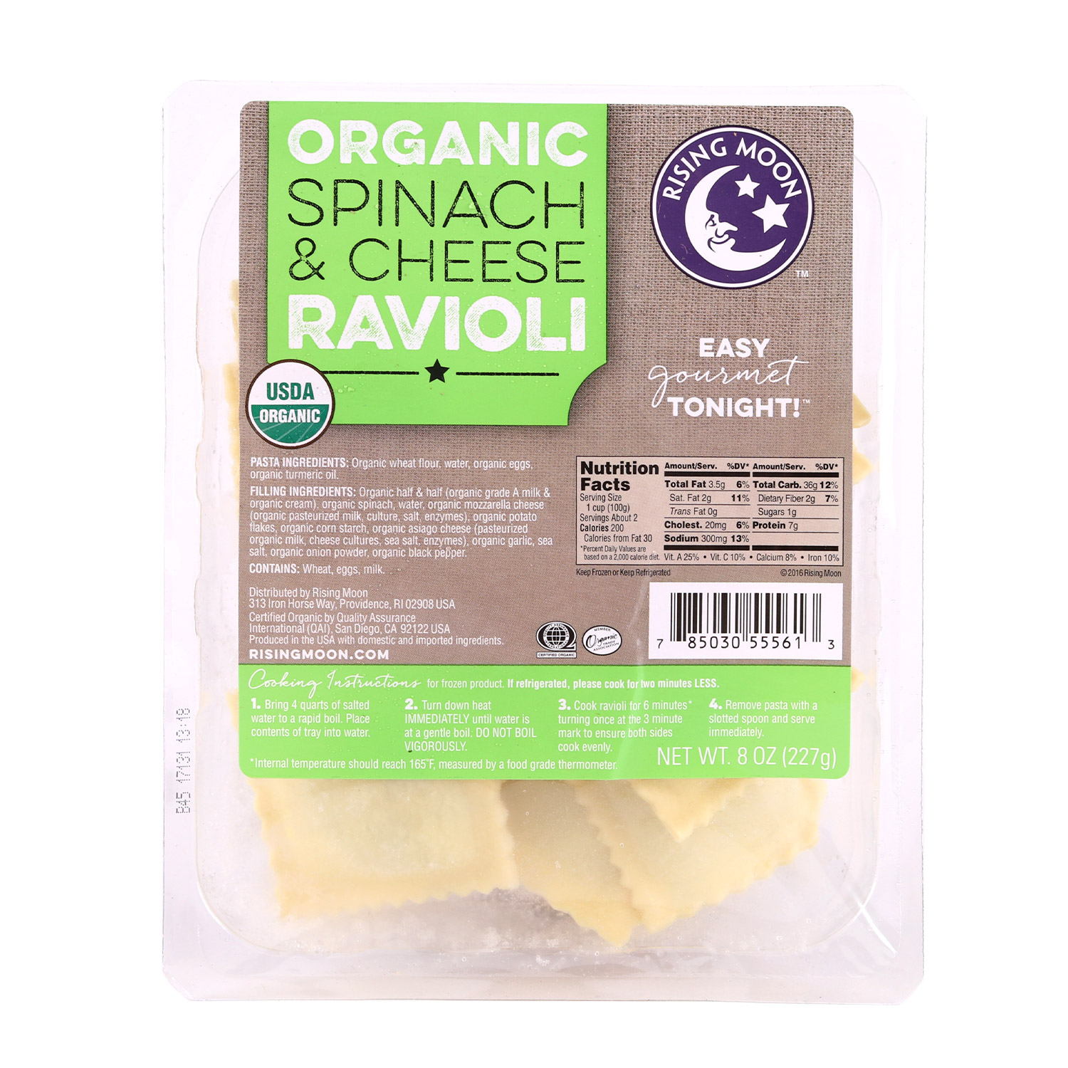 Ravioli, Spinach & Cheese-Organic