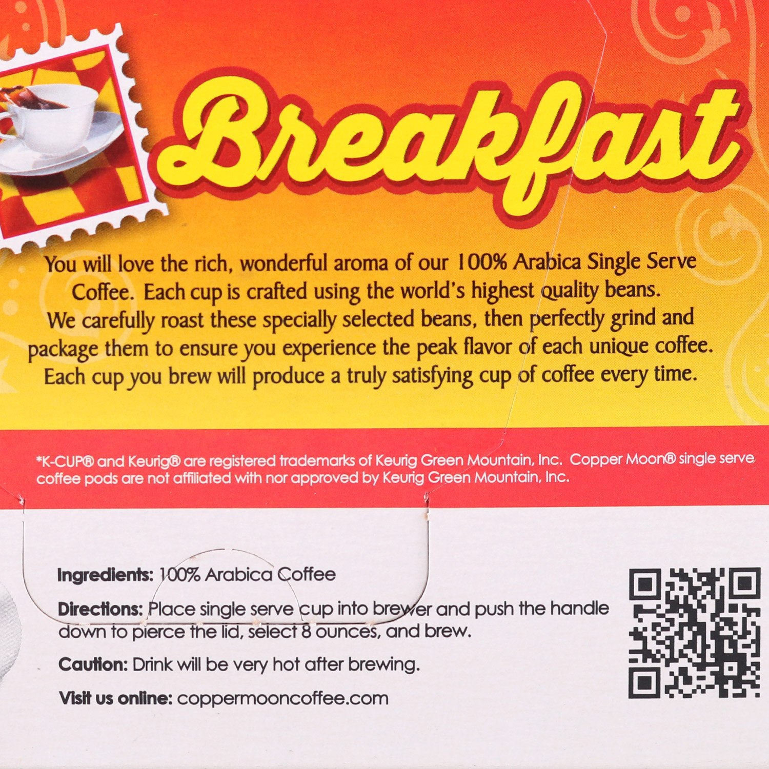 Single Coffee Pods, Breakfast Blend