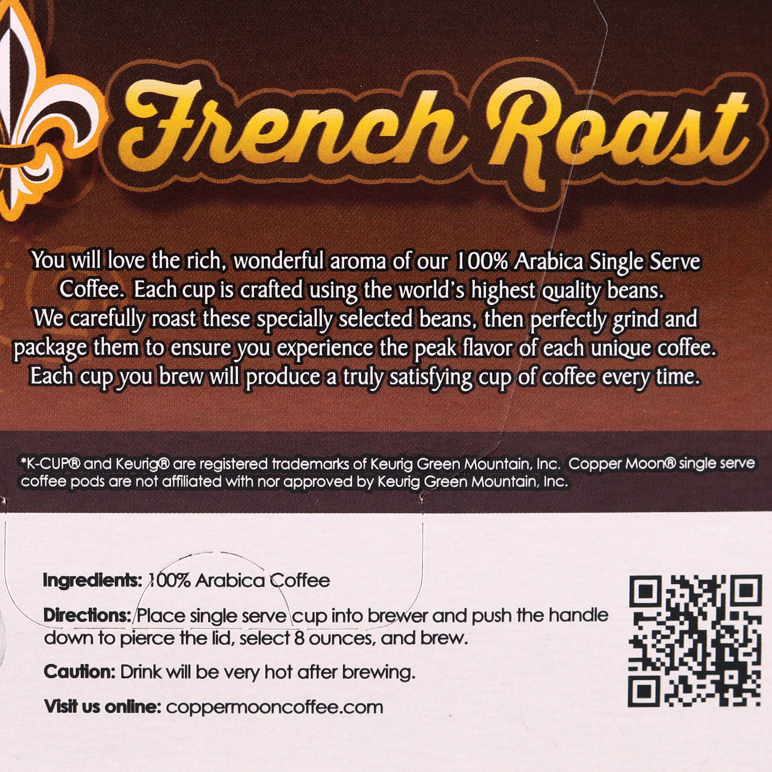 Single Coffee Pods, French Roast