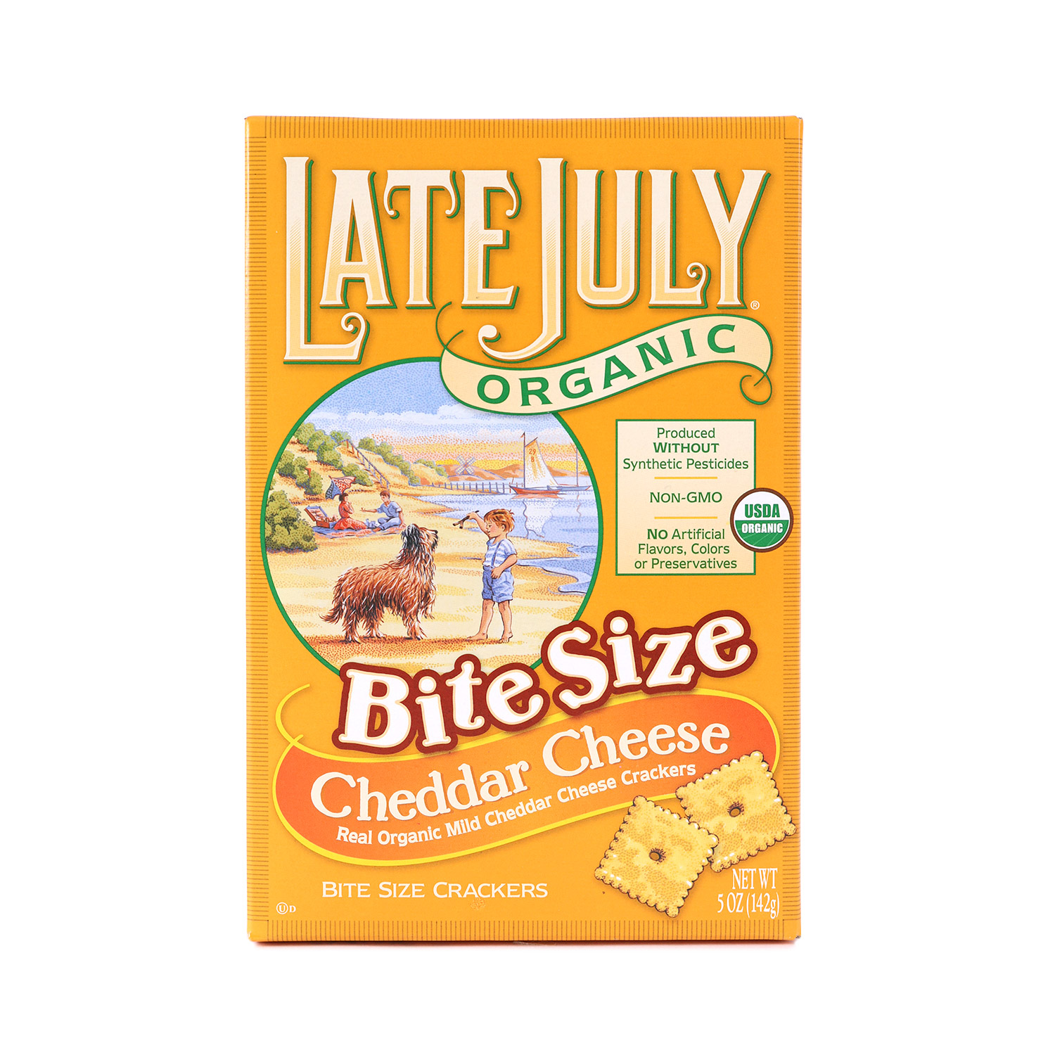 Crackers, Bite Size Cheddar-Organic