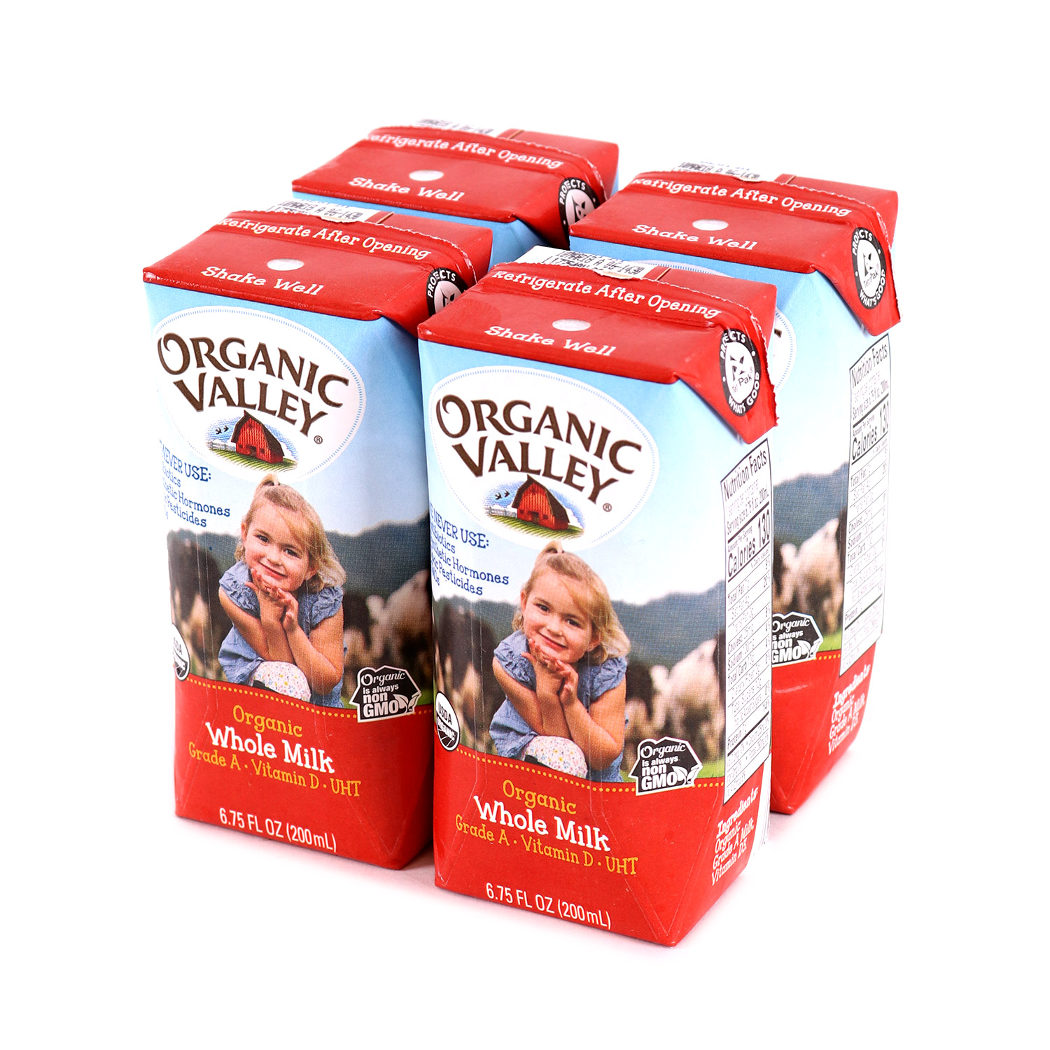 Milk, Kid's 4pk Whole-Organic