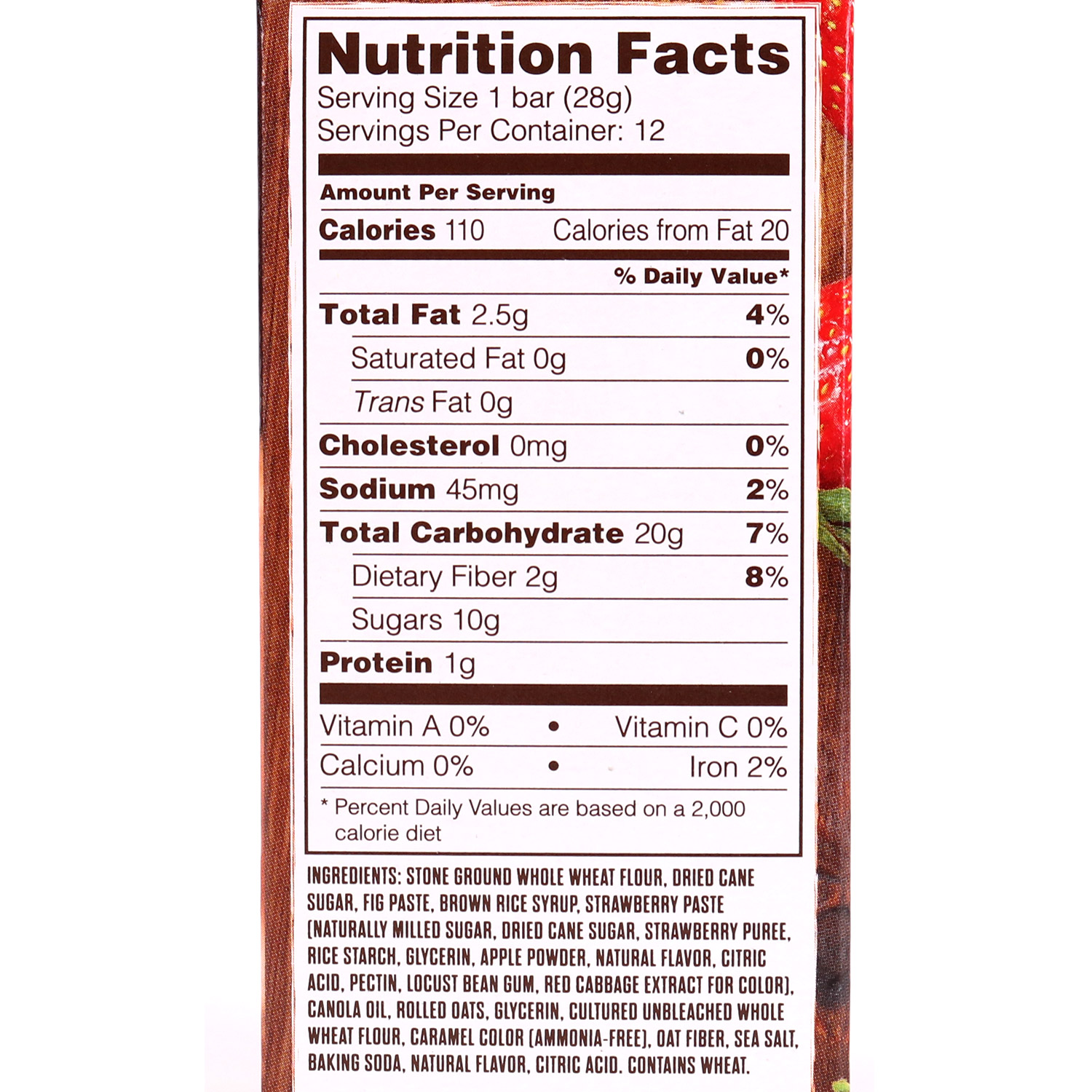 Fig Bar, Whole Wheat Strawberry-6pk