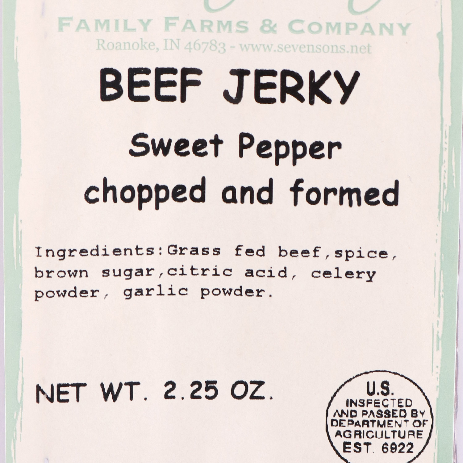 Beef Jerky, Sweet Pepper