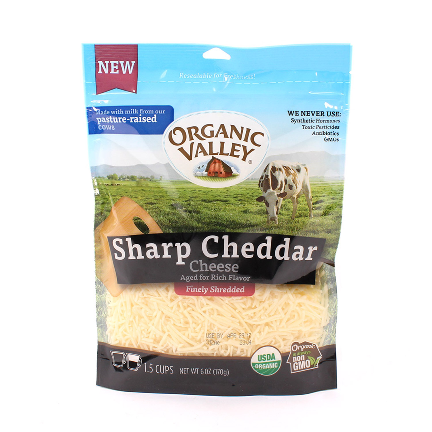 Shredded, Sharp Cheddar-Organic