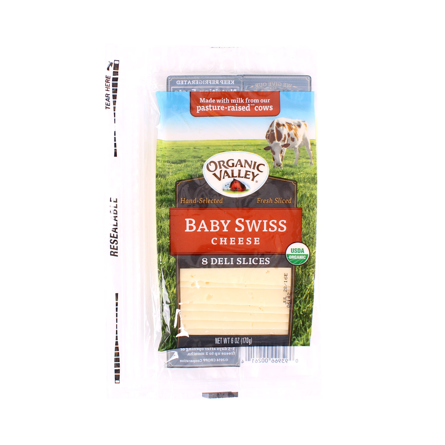 Slices, Baby Swiss-Organic