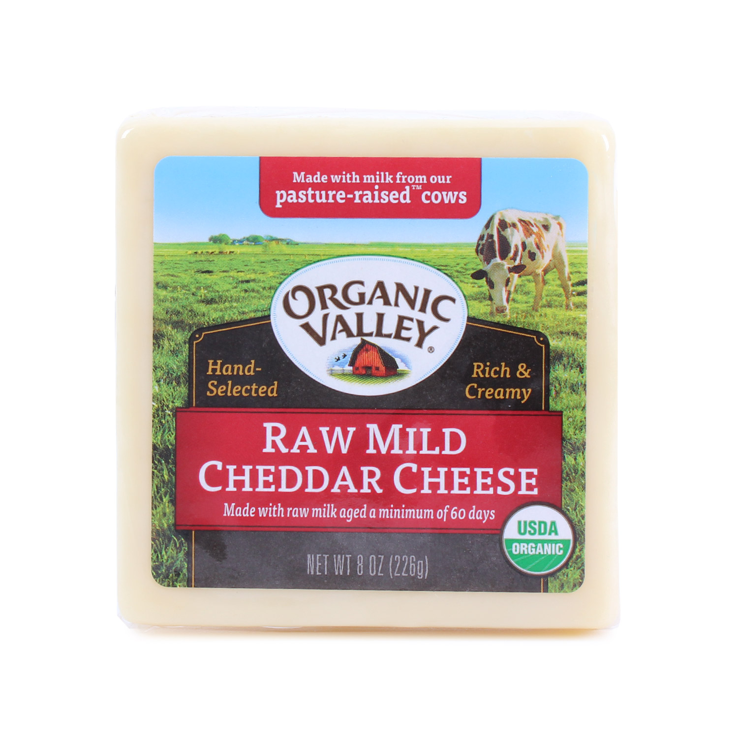 Cheese Block, Raw Mild Cheddar-Organic