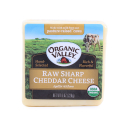 Cheese Block, Raw Sharp Cheddar-Organic