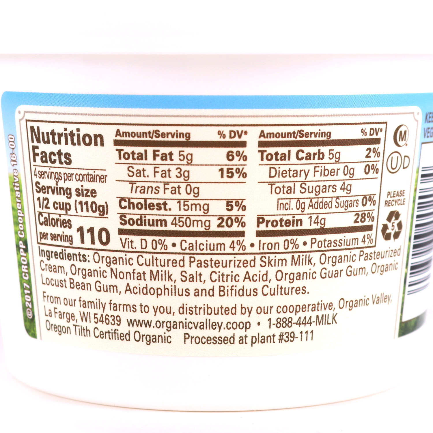 Tub, Cottage Cheese-Organic