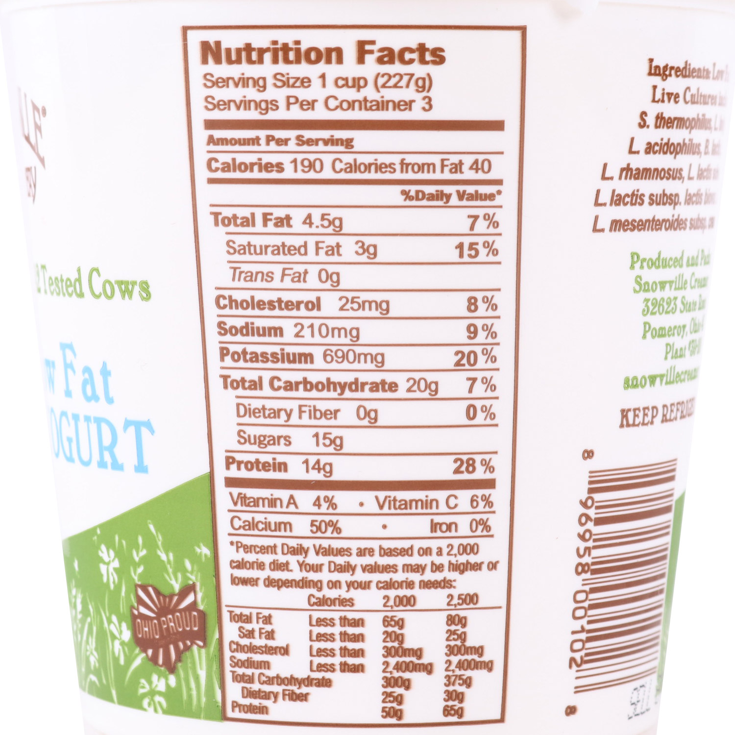 Yogurt, Plain 2%