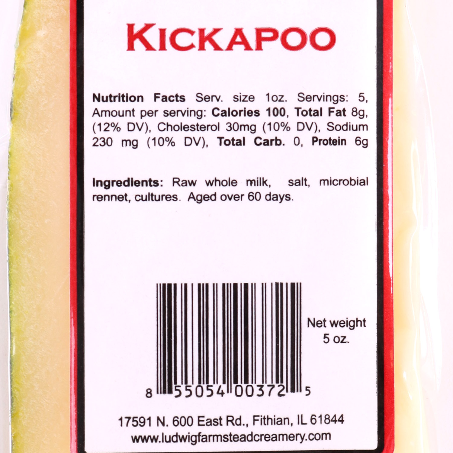 Cheese, Kickapoo