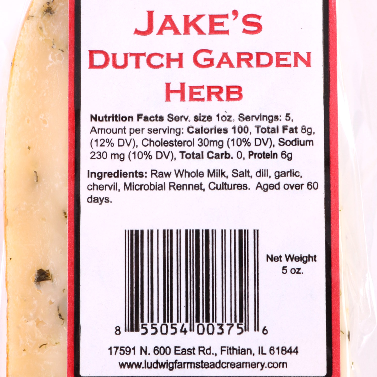 Cheese, Jake's Wheel Garden Herb