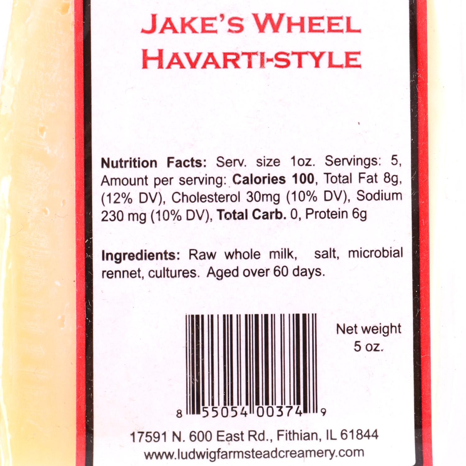 Cheese, Jake's Wheel