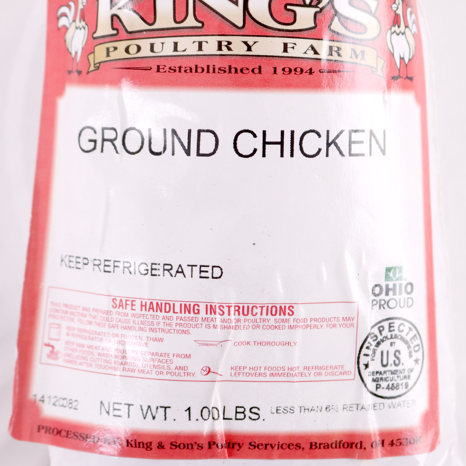 All Natural Chicken, Ground Chicken