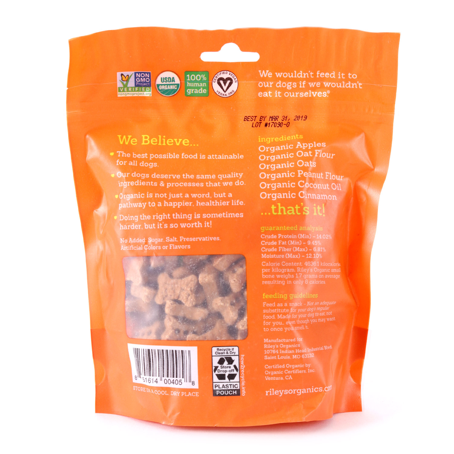 Apple Dog Treats-Small-Organic
