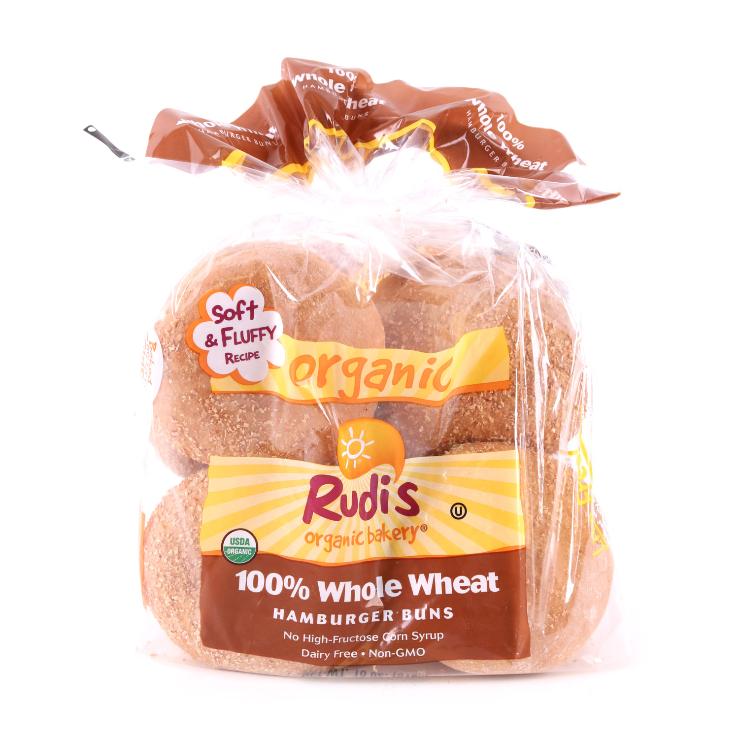 Buns, Whole Wheat Hamburger-Organic