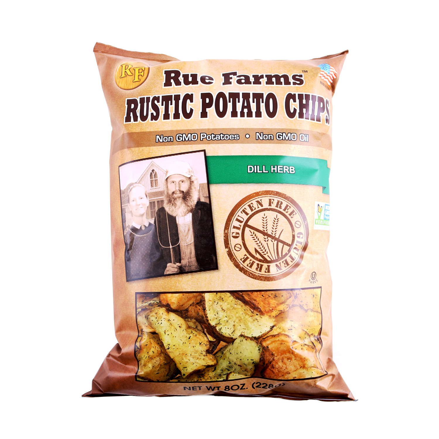 Rustic Potato Chips, Dill Herb