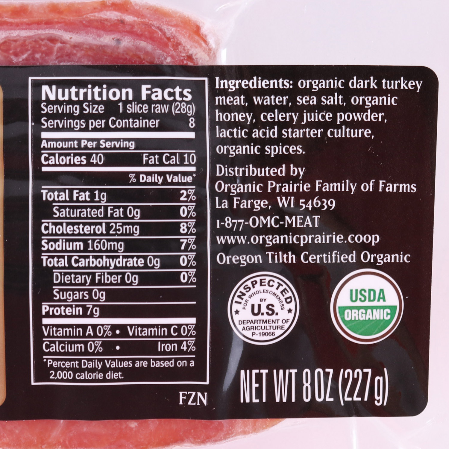 Bacon, Turkey-Organic