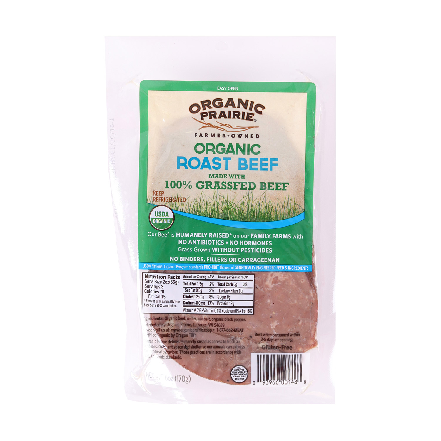 Deli Slices, Roast Beef-Organic