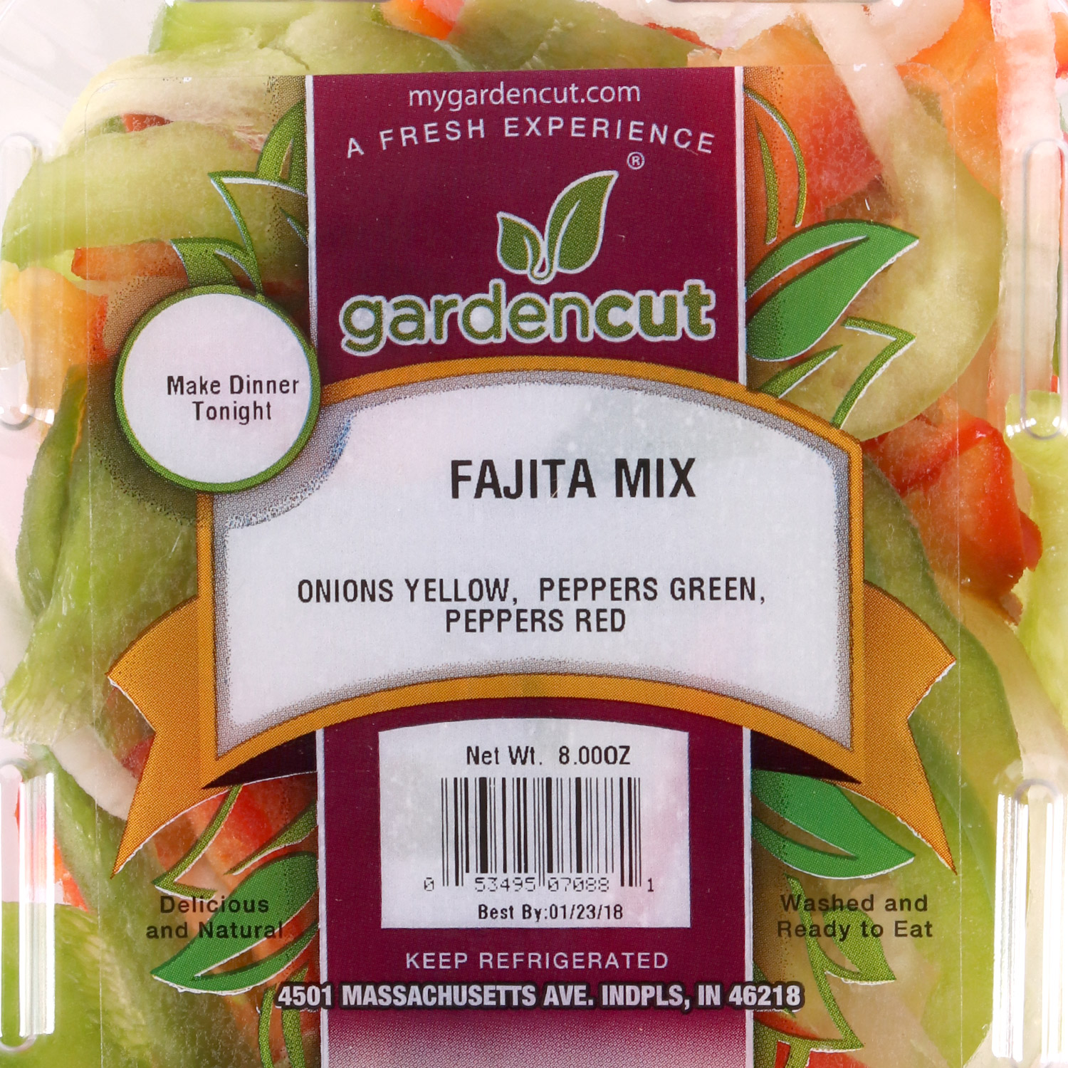 Cut Veggies, Fajita Mix